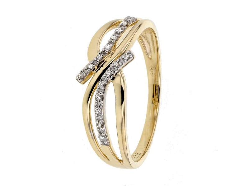 Bague doubles rangs pavé des diamants sertis grains en or blanc