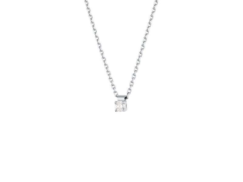 vrai solitaire necklace white jewelry gold diamond sol products oro soli