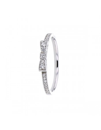 ring in white gold - 9 K gold: 1.20 Gr