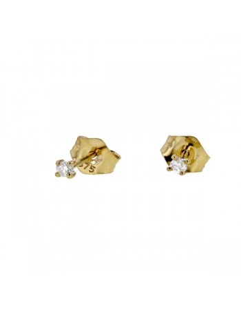 "Boucles d'oreilles puces ""light"" en or jaune"