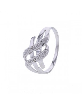 Ring pave set diamonds in silver