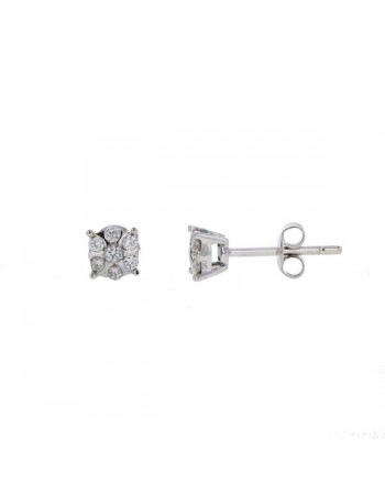 Multi-stone diamond earrings in 18 K gold