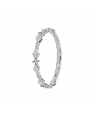 Bague alliance byzantine diamants en or blanc