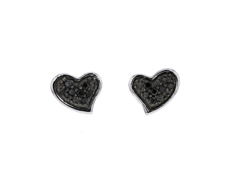 silver shaped products sterling earrings heart stud original collections love