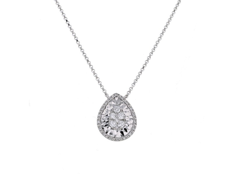 CNC set pear shape diamond necklace in 18 K gold