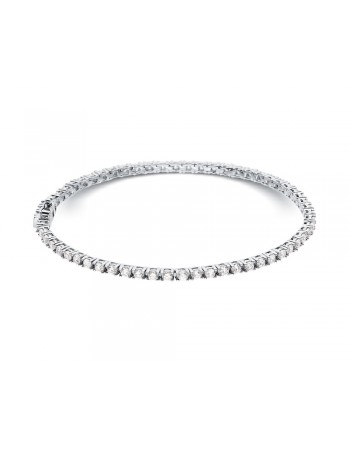 Diamond tennis bracelet, claw setting in 18 K gold