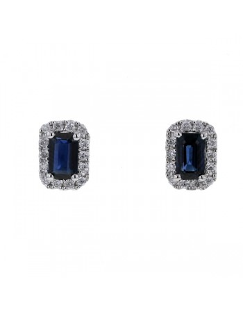 Diamond and sapphire earrings in 9 K gold