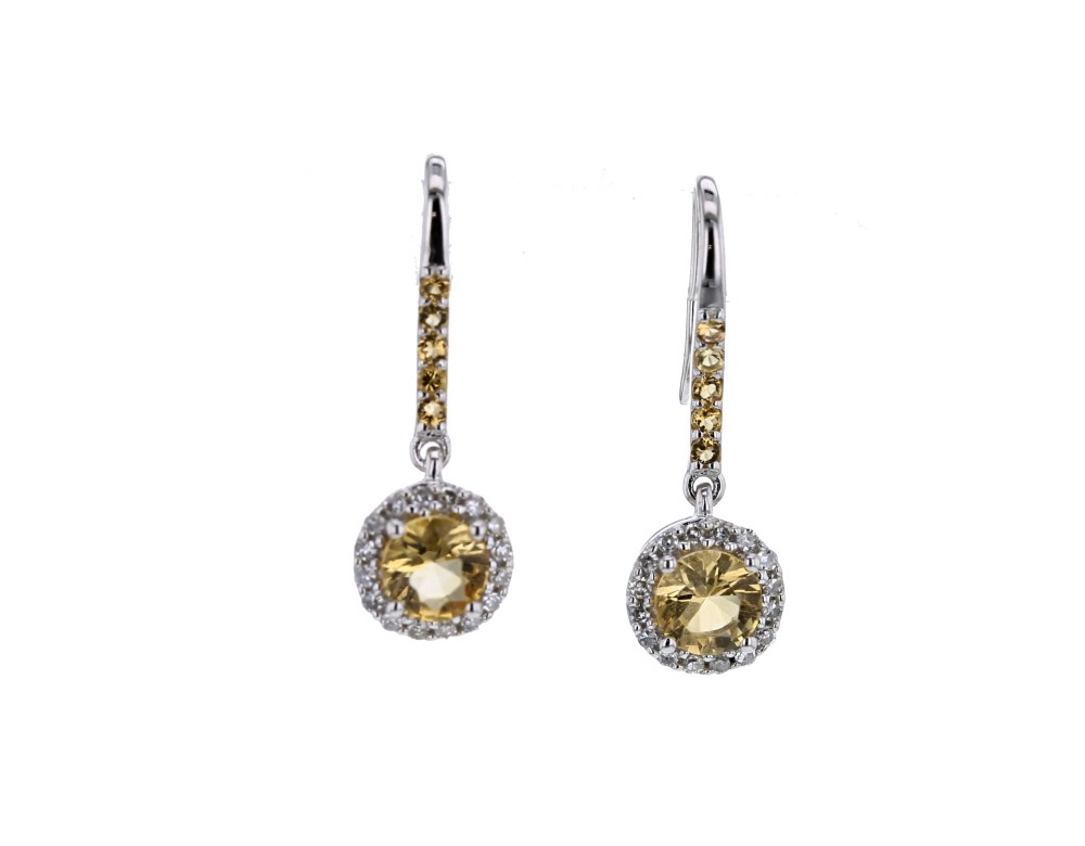 boucles d 39 oreilles diamant boucles d 39 oreilles citrine diamants. Black Bedroom Furniture Sets. Home Design Ideas