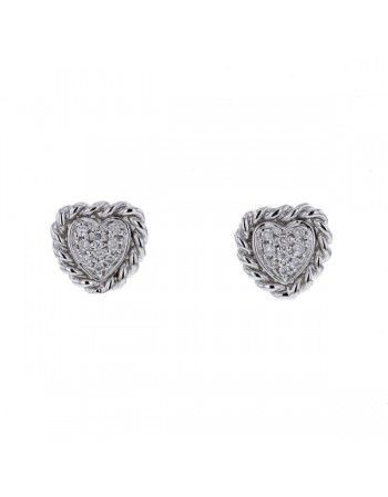 Multi-stone cluster diamond earrings in 9 K gold