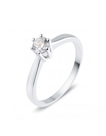 Classic claw set diamond solitaire ring in 9 K gold