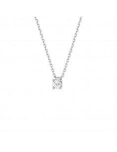 Collier clou diamant monté sur quatre griffes en or blanc