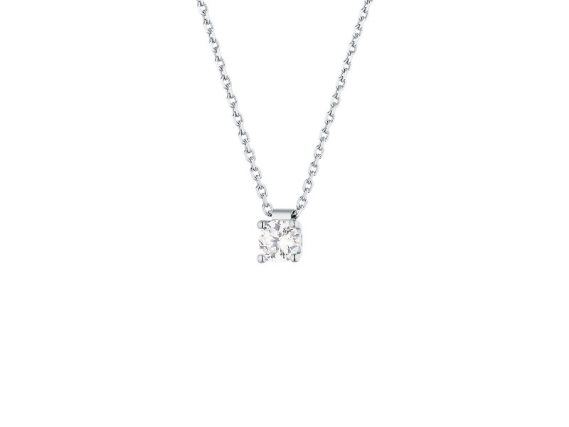 Diamond necklace claw set solitaire diamond necklace in 18 k gold claw set solitaire diamond necklace in 18 k gold aloadofball Image collections