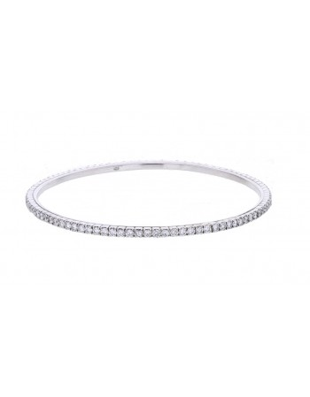 Diamond bangle full set all around in 18 K gold