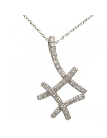 Diamond necklace in 9 K gold