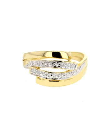 Ring with diamonds in 9 K gold