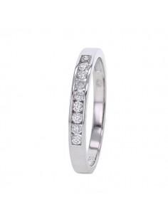 Channel set diamond wedding ring in 18 K gold