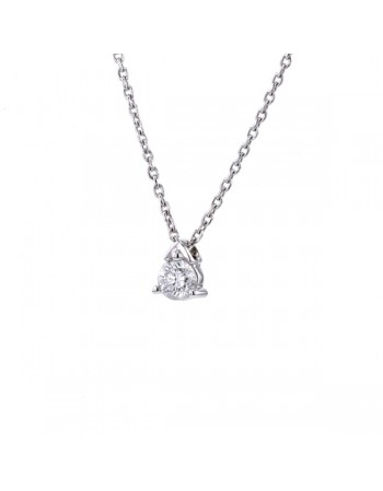 Solitaire diamond necklace in 9 K gold