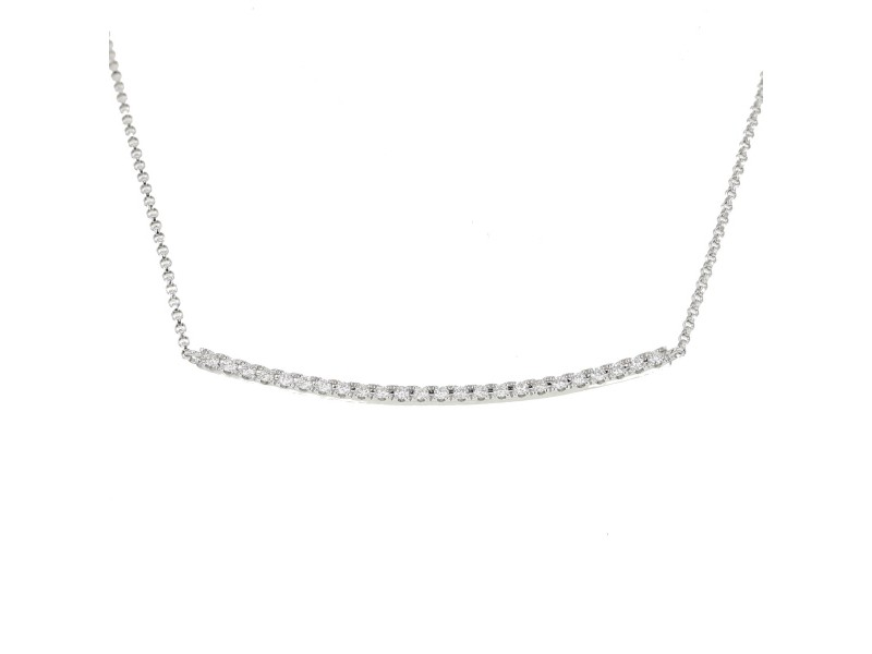Line of diamonds necklace in 18 K gold