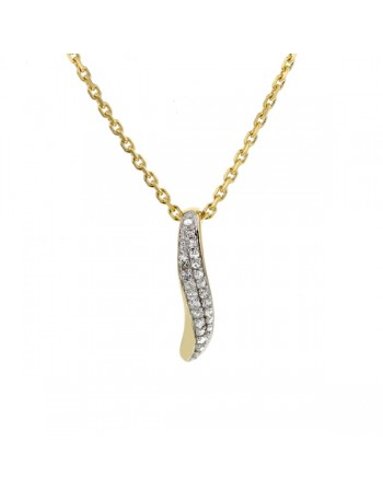Diamond pave set pendant in 9 K gold