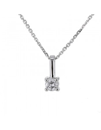 Solitaire diamond pendant in 18 K gold