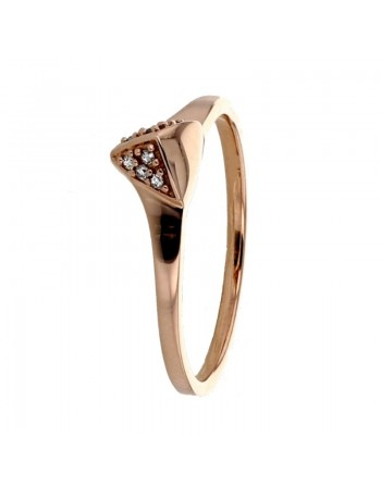 Facets pave set ring in 9 K gold