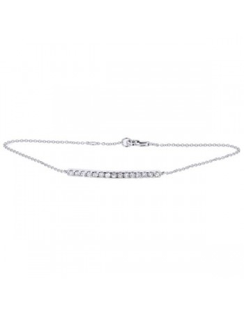 Line with diamonds bracelet in 18 K gold