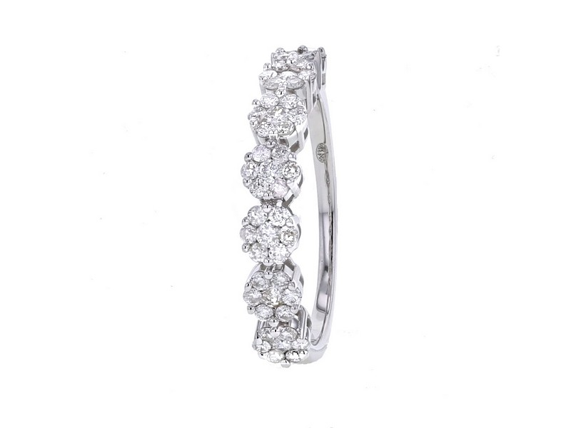 Alliance Diamant Bague Alliance Multi Pierres Diamants En Or Blanc