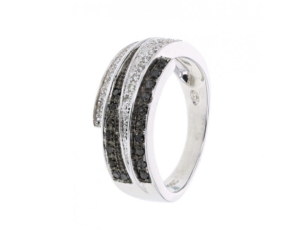 diamond engagement ring ring large band with black and