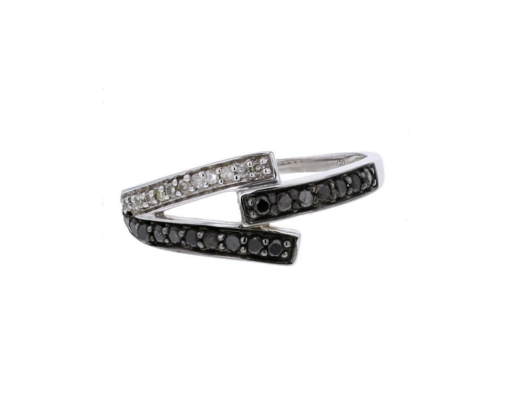 diamond engagement ring design ring with black and white