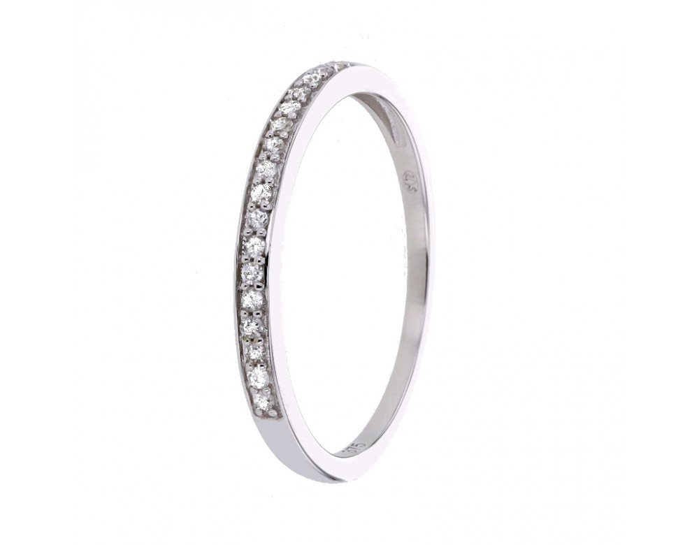 Bague alliance fine avec diamants sertis grains en or blanc ... dc2c7138e3a3