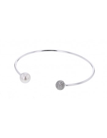 Diamond bracelet in white gold - 9 K gold: 3.50 Gr