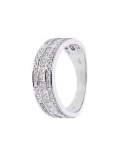 Diamond ring in white gold - 18 K gold: 4.50 Gr