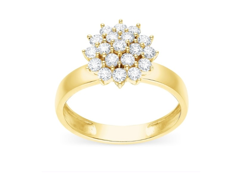 Multi-stone diamond ring in 18 K gold