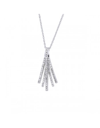 Collier pave de diamants en or blanc