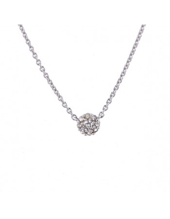 Multi-stone diamond button necklet in 9 K gold
