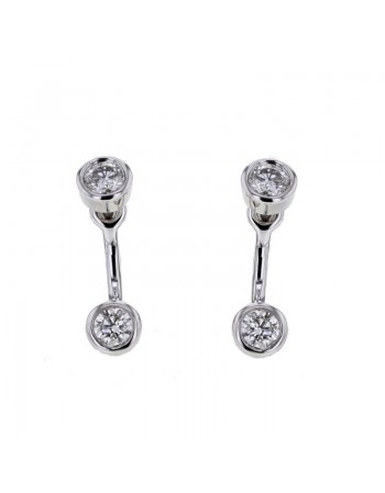 Diamond earrings in white gold - 9 K gold: 1.72 Gr