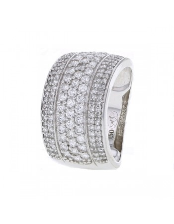 Diamond ring in white gold - 18 K gold: 7.20 Gr