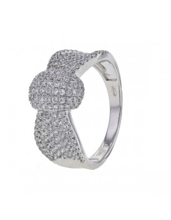 Ring with cubic zirconia in 9 K gold