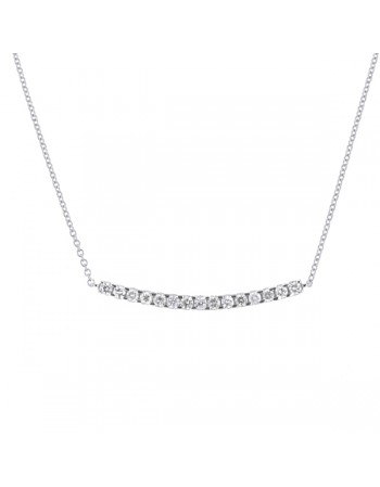 Diamond necklace in white gold - 18 K gold: 2.65 Gr