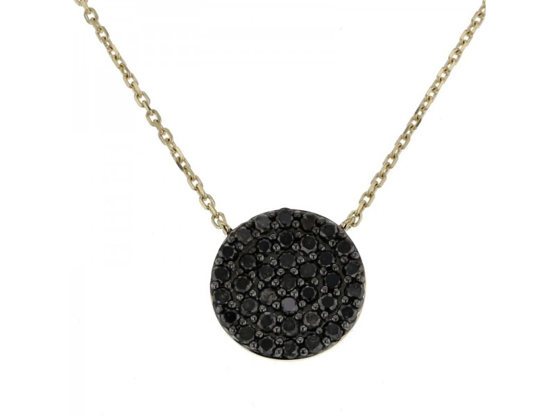Diamond necklace in yellow gold - 18 K gold: 2.35 Gr