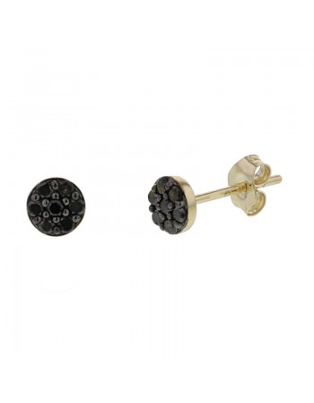 Diamond earrings in yellow gold - 18 K gold: 0.98 Gr