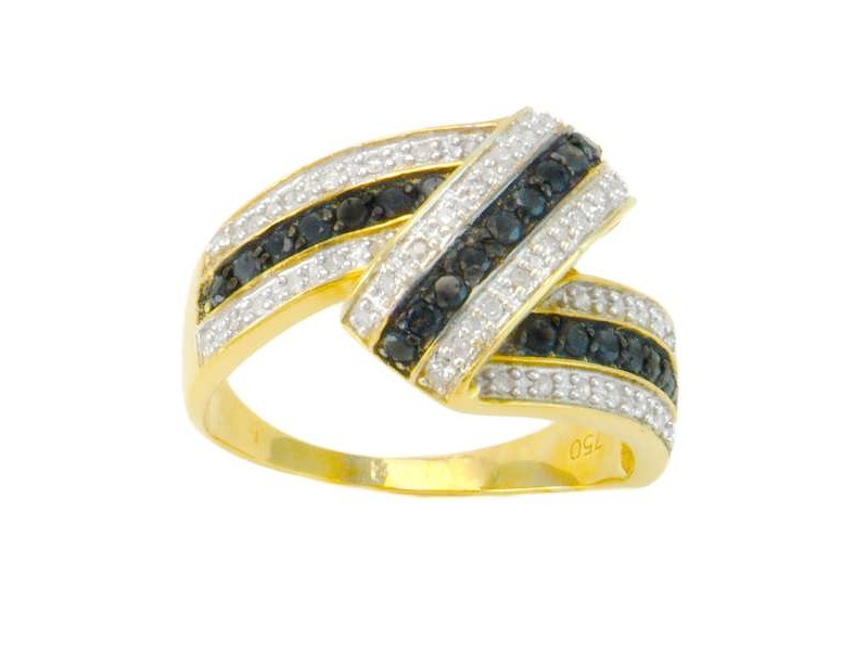 Diamond ring in yellow gold - 18 K gold: 4.60 Gr