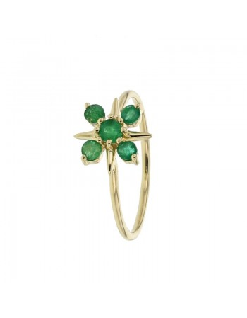 ring in yellow gold - 18 K gold: 1.40 Gr
