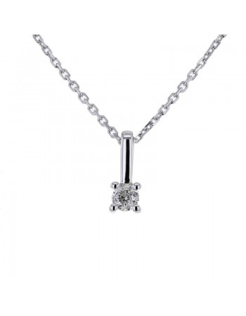 Diamond necklace in white gold - 18 K gold: 1.84 Gr