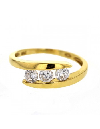wedding ring in yellow gold - 18 K gold: 2.50 Gr