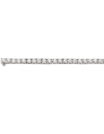 Bracelet rivière de diamants 5,75 cts en or blanc