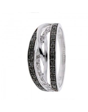 Diamond ring in white gold - 18 K gold: 3.12 Gr