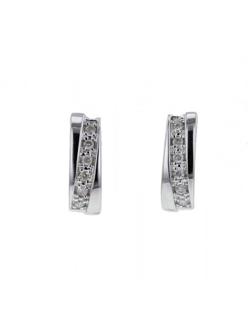 Pave set diamonds earrings in 9 K gold