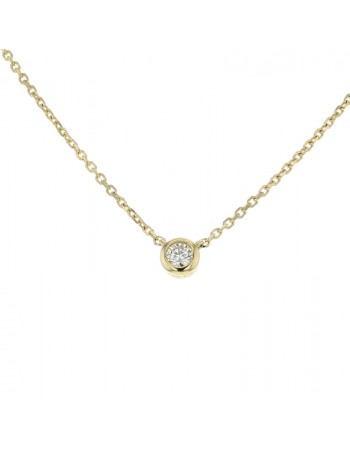 Diamond necklace in yellow gold - 18 K gold: 1.70 Gr