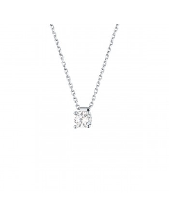 Diamond necklace in white gold - 18 K gold: 2.70 Gr